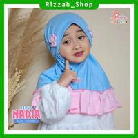 Jilbab Instan Anak NADIA Kids MIULAN - Blue Cherry
