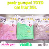 Pasir wangi gumpal 25 lt Toto cat litter GOJEK GRAB
