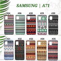 """ SAMSUNG GALAXY A71 "" Softcase Tribal Patterns Batik Glow In The Dark"