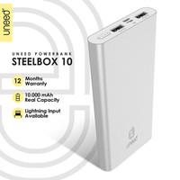 UNEED SteelBox 10 Powerbank 10000mAH Polymer Real Capacity - UPB213 - Silver