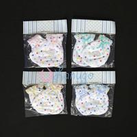 MIYO 4 Set Sarung Tangan & Kaos Kaki Karet Bayi/Baby Polkadot (0-3M)