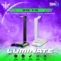 NYK T10 Luminate RGB Headset Stand 7.1 Virtual Surround with USB Port