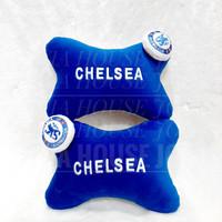 Car Pillow Set Club Bola Biru Putih Bantal Mobil Club Bola Biru Putih