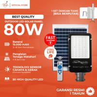 VIOLIN LAMPU JALAN SOLAR CELL 50 LED 80Watt Sensor Gerak/Cahaya