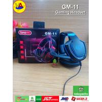 Headset Gaming 5Bro GM-11 Sound Expert - Mobile / PC Headset Gaming - Merah