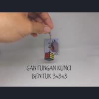 Gantungan Kunci Bentuk Rubik 3x3x3 - keyring keychain key ring 3x3