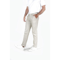 Houseofcuff Celana Chino Panjang Pria Slim fit Stretch Jeans krim