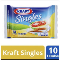 Keju Kraft Singles 10 slices 167gr 10s Cheddar Cheese Serbaguna