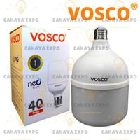 bohlam lampu led bulb tabung led capsule vosco 40w 40 w 40 watt putih