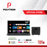 POLYTRON Smart Cinemax Soundbar LED TV 32 inch PLD 32BAG9953