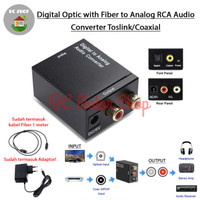 Digital Optic with Fiber to Analog RCA Audio Converter Toslink/Coaxial