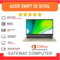 ACER Swift 3X SF314 - i5 1135g7 8GB 512SSD IrisXE MAX Win10 + Office