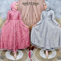 Gamis Wanita / Kebaya Muslim / Dress Tulle Modern Aneka Pilihan Warna