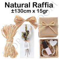 Natural Raffia ±15gr -kado -Hampper -Barang Florist -Xmas