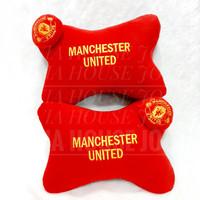 Car Pillow Set Club Bola Merah Kuning Bantal Mobil Club Bola Merah