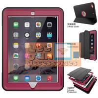 New iPad 5 2017 9.7 Gen-5 Hybrid Heavy Duty Shockproof Smart Case 360