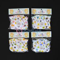 LIBBY 4 Set Sarung Tangan & Kaos Kaki Karet Bayi/Baby Polkadot (0-3M)