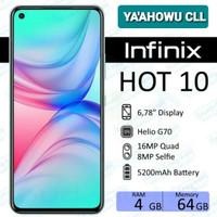 infinix Hot 10 X682B 4gb/64gb Garansi Resmi