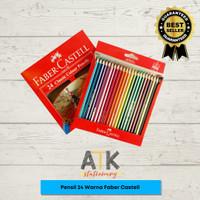 Pensil Warna Faber Castell Isi 24 Warna Panjang atk
