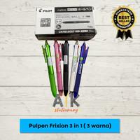 Pulpen Pilot Frixion Clicker 3 in 1 ( Pulpen 3 Warna) atk