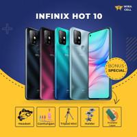 Infinix Hot 10 4GB/64GB Garansi Resmi Smartphone [Free Aksesoris HP] - Biru Muda