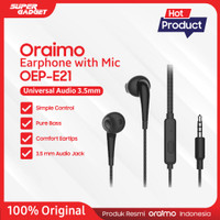 Oraimo Headset / In-Ear Earphone / HandsfreeIOS/Android OEP-E21N - Ori