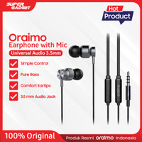 Oraimo Earphone / Hands free IOS/Android OEP-E23 - Original