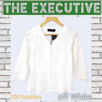 Kemeja putih wanita THE EXECUTIVE women V neck model