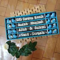 Coklat sekat huruf 40 - cokelat ucapan hadiah wisuda spesial box gift