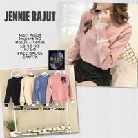 jennie blouse atasan wanita rajut import jumbo terlaris november