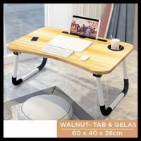 Meja laptop / meja belajar lipat / meja portable - Cokelat
