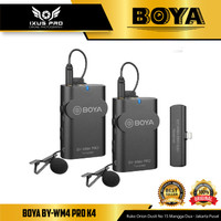 BOYA BY-WM4 PRO-K4 Wireless Omni Lavalier Microphone IOS IPHONE