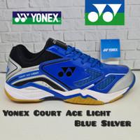 Sepatu Badminton YONEX COURT ACE LIGHT (Original) - Blue Silver, 41