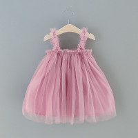 Dress Pesta Anak Princess Motif Jaring High Quality !