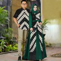 ya baju couple gamis kemeja batik busana muslim fashion pria wanita
