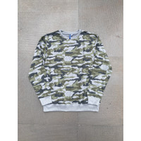 Sweater H&M Crewneck Printed Sweatshirt Camouflage Grey Original HnM