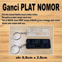 Gantungan kunci model plat NOMOR akrilik grafir MOTOR MOBIL CUSTOM - Putih