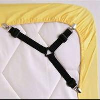 Besi Bed Sheet Grip Pengait Ujung Sprei Jepitan Sprei Set 4pcs