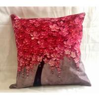 Cover bantal ( sarung bantal merah ) - Merah Muda