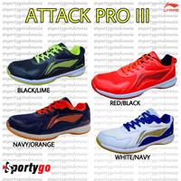 SEPATU BADMINTON LI NING ATTACK PRO III / LINING ATTACK PRO 3