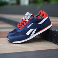 Sepatu Sneakers Sport Kets Running Jogging Pria Murah Reebok Classic - Navy Merah, 40