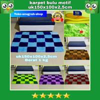 karpet bulu karakter/motif uk 150x100x2cm