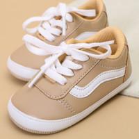 Sepatu Bayi Sneakers Cream - Nice Kids (sepatu prewalker bayi) - 0-3 Bulan