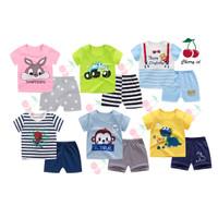 (0-2 Thn) COD Setelan Baju Bayi Import / Pakaian Baju Laki Laki Import