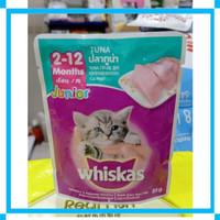Makanan Kucing - Whiskas Wet Food Junior Tuna Pouch 85gr
