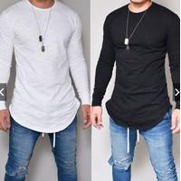 Kaos T-Shirt O-Neck Lengan Panjang Slim Fit Casual - KAOS POLOS LENGAN