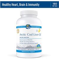 Nordic Naturals Arctic Cod Liver Oil 180 Softgels