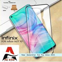 Tempered Glass INFINIX HOT 10 Full Cover Anti Gores Kaca Warna INFINIX