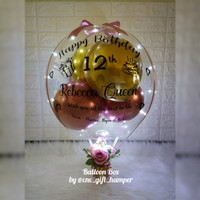 balon box / buket balon / kado balon / balloon bouquet / led light