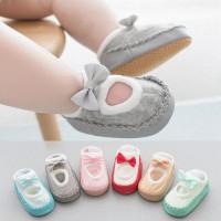 sepatu prewalker bayi anak perempuan pita soft sole